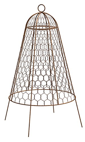 Set of Six Panacea Rustic Wire Garden Cloches, 20''H Each