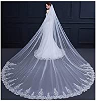 AIBIYI Cathedral Wedding Veil Sequins La...