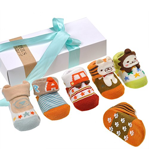 Baby 3D Anti-Slip Socks Set of 3 - 6