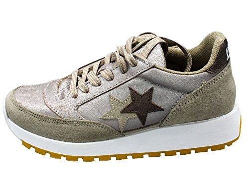 Damen Star Silber Sneaker Taupe 2 81w0xBq
