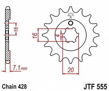 JT Sprockets JTF555.14 14T Steel Front Sprocket