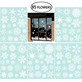 Snowflake Window Clings Christmas Window Decorations Different Snowflakes by NICEXMAS