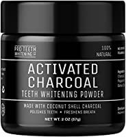 Activated Charcoal Natural Teeth Whitening Powder by Pro Teeth Whitening Co®   High Quality Grey Charcoal (non abrasive and proven safe for enamel) From Coconut Shells   Manufactured in England