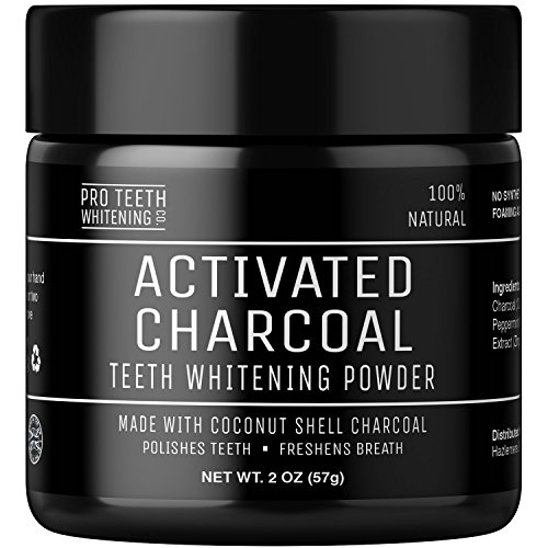 Price comparison product image Activated Charcoal Natural Teeth Whitening Powder by Pro Teeth Whitening Co® | High Quality Grey Charcoal (non abrasive and proven safe for enamel) From Coconut Shells | Manufactured in England