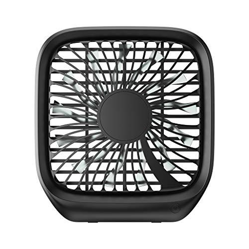 MaxFox Car Backseats Cold Fan,Multi-Function Silent Folding Car Rear Seat USB Fan Desktop Laptop Fan for Children (Black)