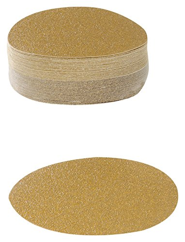 - Karebac VDNH80 Hook and Loop Sanding Discs in Heavyweight Paper with 80 Grit Gold Aluminum Oxide, 6