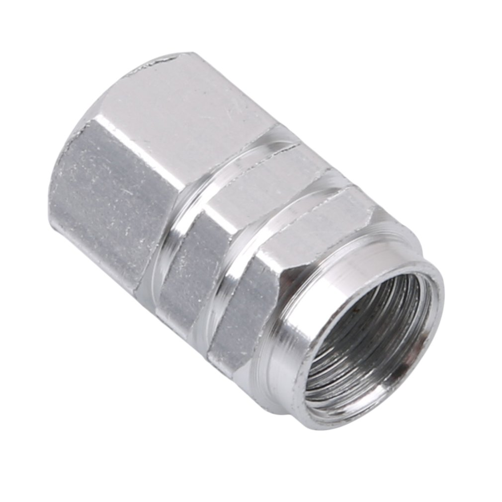 Meolin Tire Stem Valve Caps Aluminium Car Dustproof Caps ,Silver,0.6D:0.39inch