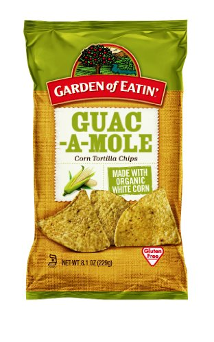 Garden of Eatin' Tortilla Chips, Guacamole, 8.1 Ounce (Pack of 12)