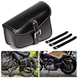Motorcycle Tool Bag Saddlebags with PU Leather Metal Buckle Black Swing Arm Bag For Sportster XL 883 1200 Night Rod Special Honda shadow Yamaha