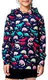 BFUSTYLE Cartoon Dinosaurs Designed Casual Pullover Hoodies for Children Niece, Purple, Size 8