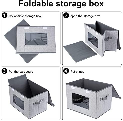 """51 LbOtUnpL. AC - Univivi Larger Storage Cubes [2-Pack] Foldable Storage Box With Lid, Collapsible Storage Bin Organizer Basket With Sturdy Handles For Home, Nursery, Closet (16.92 X 11.8 X 11.81"""")"""