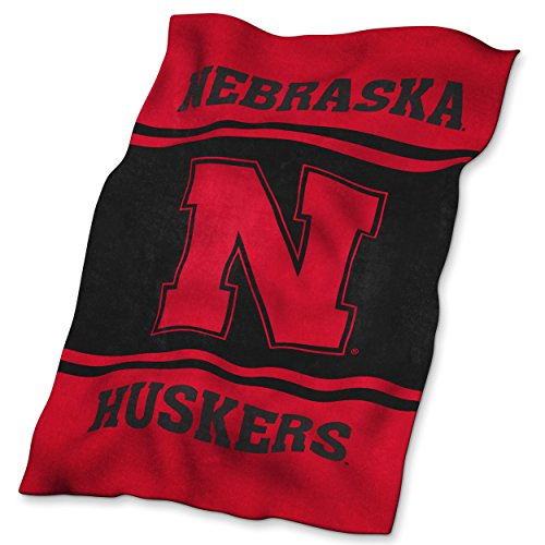 Logo Brands NCAA Nebraska Cornhuskers Ultrasoft (Nebraska Cornhuskers Twin Comforter)
