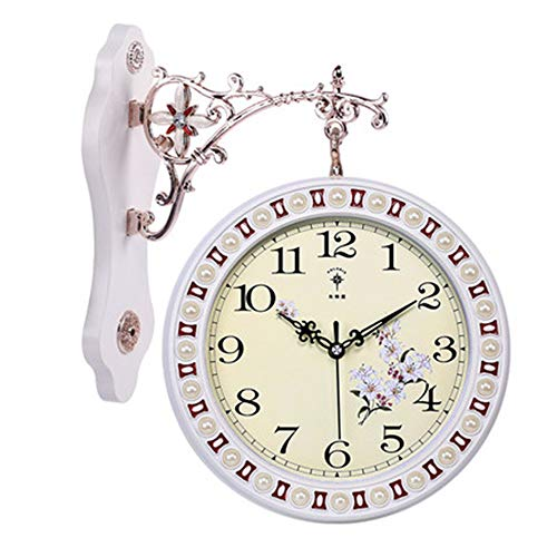 - EYHGSDJW Wall Clock Double-Sided Clock Living Room Large Two-Sided Wall Clock Mute Clock Quartz Clock Watch Hanging Table, A Section
