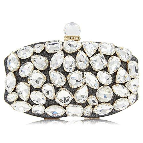 Gray De Main Pochette Robe À rabbit Luxe De Soirée Mariage Diamants La Lady Main Soirée Sac De Lovely À q7ORgUW7