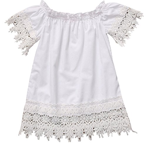 White Lace Trimmed Cold Shoulder Tunic Dress from Chunks of Charm - Print Tunic Animal Trimmed