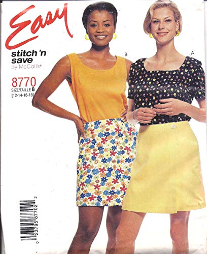 8770 McCalls Sewing Pattern Uncut Misses Tops Skort Size 8 10 12 14