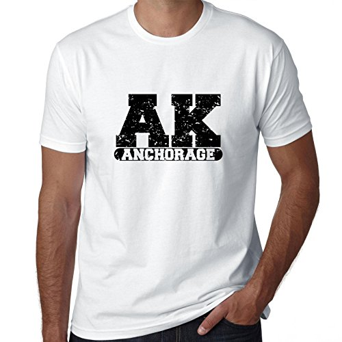 Hollywood Thread Anchorage, Alaska AK Classic City State Sign Men's T-Shirt]()