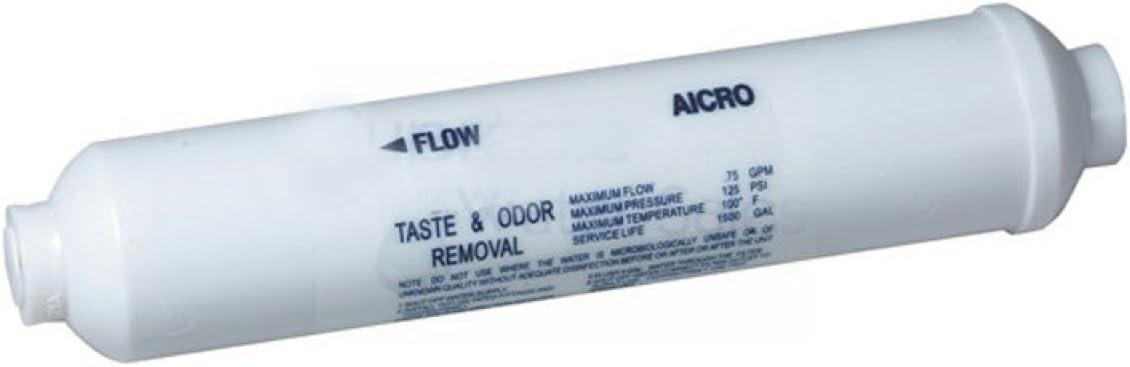"""10/"""" INLINE CARBON WATER FILTER REFRIGERATOR RO Icemaker AICRO-C GAC AQUARIUM"""