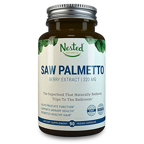 SAW PALMETTO 320 mg | 90 Capsule Supplements | Standardized Berries Extract | Support Healthy Urination & Maintain Male Prostate Health | Support Healthy Levels of DHT