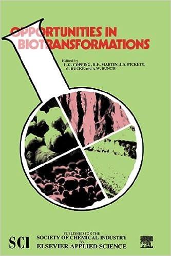 Opportunities in Biotransformations