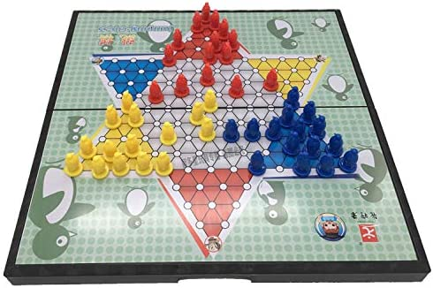 zyhoue Large Checkers Pioneer Magnetic Folding Board Children Student Puzzle Toy Chess Adult Large Jumping Checkers: Amazon.es: Juguetes y juegos