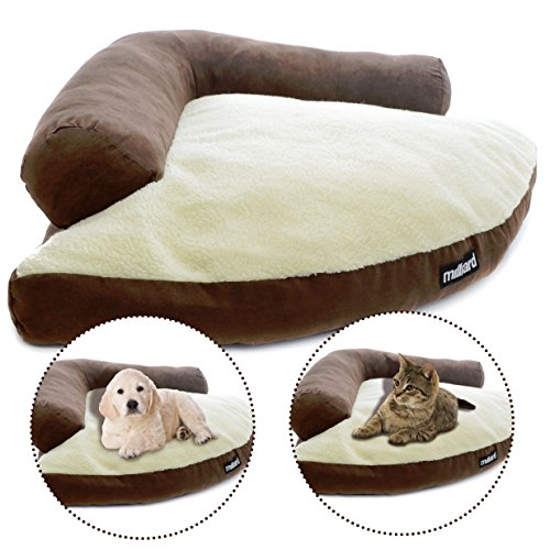 Milliard Large Cat Bed, Corner Wedge Design Makes a Cozy Pet Bed