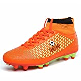 Leader Show Men's Athletic Football Shoes Fashion Soccer Cleat (6.5, Red)