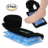 Long Lasting and Reusable Gel Pack for Pain Relief Cold and Hot Therapy Microwaveable & Freezable 2 Beads including Ultra Soft Wrap with Elastic Strap Great for Foot Arm Elbow Hand sprain