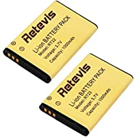 Retevis RT22 3.7V 1000mAh Walkie Talkie Battery Original Li-ion Battery for Retevis RT22 WLN KD-C1 Two Way Radio(2 Pack)