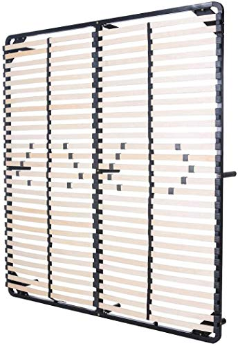 MOG CASA - Sommier Negro multilaminas con reguladores lumbares (con patas incluidas) Metalizado anticorrosion Varias medidas (160x200cm)