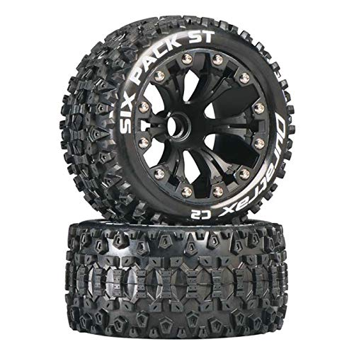 Duratrax DTXC3558 Six Pack RC Staduim Truck Tires with Foam Inserts, C2 Soft Compound, ST 2.8