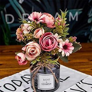 Rvbyjfg Rose Silk Flower Daisy Artificial Plastic Flower for Wedding Accessories Decoration 71