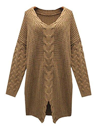 Krralinlin-Womens-Winter-Split-Hemp-Flowers-Woven-Long-Pullover-Sweater