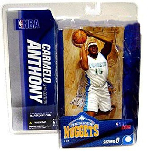 McFarlane Toys NBA Sports Picks Series 8 Action Figure Carmelo Anthony (Denver Nuggets)White Jersey by Unknown
