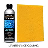 FAST Wet-Applied Coating. One 5-Minute Application to Shine and Protect ALL Exterior Car Surfaces - Tech Shine 16oz Bottle & Pad