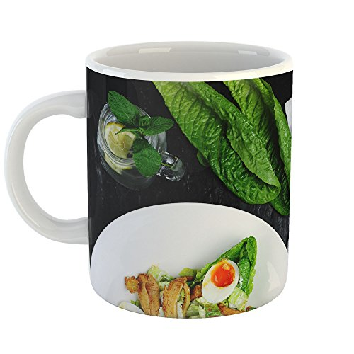Westlake - Coffee Cup Mug - Chicken Salad - Modern Picture Photography Artwork Home Office Birthday Gift - 11oz (69m 4ec) (Nutrition Whole Chicken)