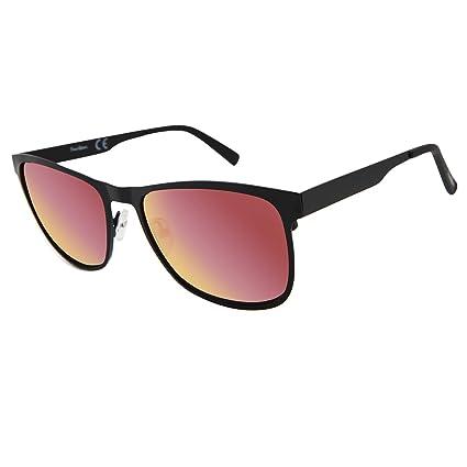 f90ddf5b50a22 Facewear Wayfarer Sunglasses for Men Women Classic Oversized Sunglasses  Metal Frame Mirrored Lens UV400 Protection Retro