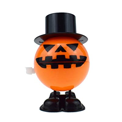 Flexible & Durable Dazzling Halloween Wind-up Jumping Pumpkin Balls Trick Or Treat Halloween Gift Early Educational Toy: Office Products