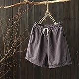 Summer Clearanc!Women Casual Cotton Linen Shorts Elastic...