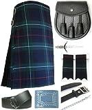 Mens Mackenzie Modern Tartan 7 Piece Casual Kilt Outfit Size: 42'' - 44''
