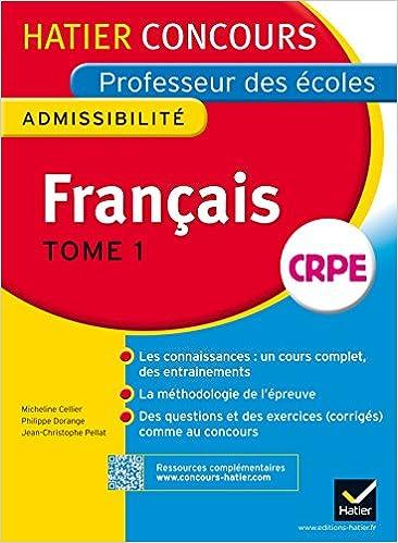 Livre gratuits en ligne Concours professeur des écoles 2015 - Français Tome 1 - Epreuve écrite d'admissibilité epub pdf