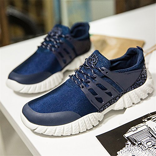FZDX Men's Sport Shoes Casual Running Breathable Lace-up Shoes Lightweight for Men Blue 017 FWyCaFU