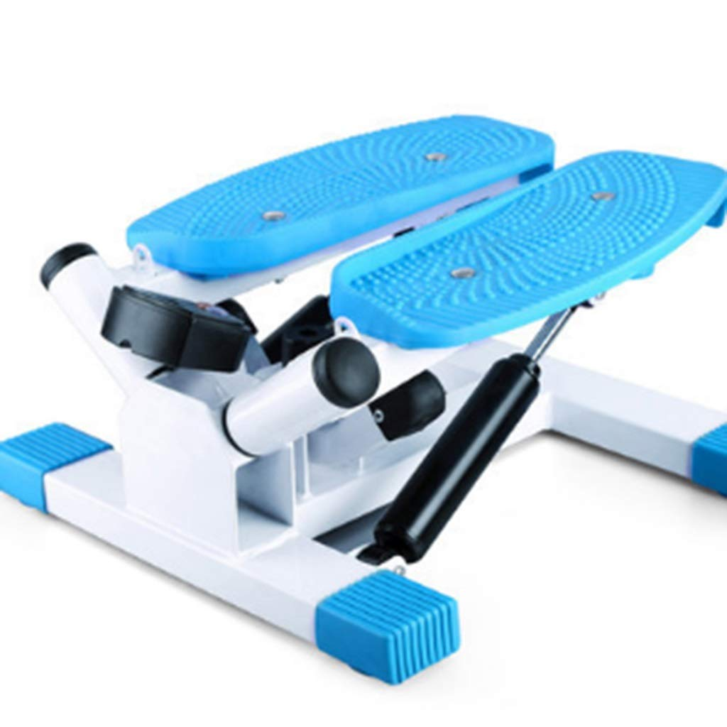 Swing Stepper,Home Fitness Equipment, Swing Stepper Machine with Multi-Function Display Screen (Blue)