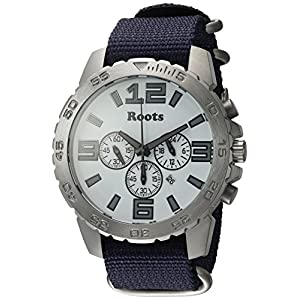 Roots Men's 'Core' Quartz Stainless Steel and Nylon Casual Watch, Color:Blue (Model: 1R-LF604WH7U)