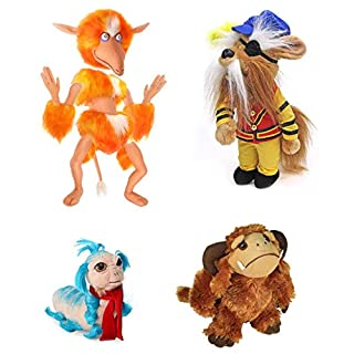 Toy Vault Labyrinth Plush Set with Ludo, The Worm, Sir Didymus and Firey (4-Figure Set), Stuffed Toys from Jim Henson's Labyrinth Fantasy Movie