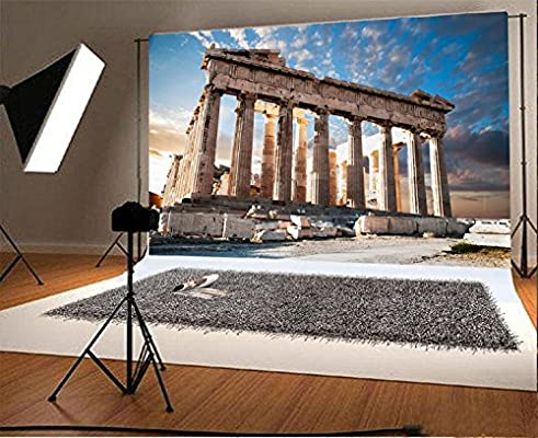 7x7FT Vinyl Backdrop Photographer,Italy,Scenery of Rome Background for Party Home Decor Outdoorsy Theme Shoot Props