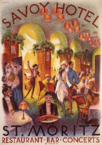 ritz Vintage Poster (artist: Bickel) Switzerland c. 1930 (36x54 Giclee Gallery Print, Wall Decor Travel Poster) (Savoy Tote)