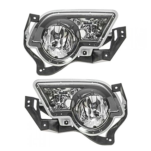 Fog Driving Lights Lamps Left & Right Pair Set for 02-06 Avalanche Pickup Truck