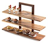 Cal-Mil 1449-60 Shelve for 3 Tier Frame Riser, Bamboo (Pack of 3)