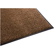 Guardian Platinum Series Indoor Wiper Floor Mat, Rubber with Nylon Carpet, 4'x12', Brown